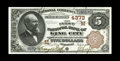 National Bank Notes:Missouri, King City, MO - $5 1882 Brown Back Fr. 471 The First NB Ch. #(M)4373. A lovely Brown Back with great color and original...