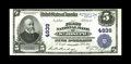 National Bank Notes:Missouri, Saint Joseph, MO - $5 1902 Plain Back Fr. 605 The First NB Ch. #4939. Originality drips from this boldly embossed $5. U...