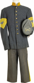 Movie/TV Memorabilia:Costumes, Confederate Soldier Costume Worn in Various Productions. This confederate master sergeant's uniform, including jacket, pants... (Total: 1 Item)