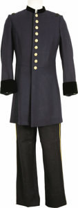 "Movie/TV Memorabilia:Costumes, ""Glory"" -- Matthew Broderick Union Officer's Uniform. A CivilWar-era U.S. Army officer's dress uniform worn by Broderick i...(Total: 1 Item)"