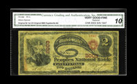 Fayetteville, NC - $2 Original Fr. 389 The Peoples NB Ch. # 2003 Only six large are known from here, with this only th...