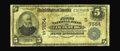 Louisburg, NC - $5 1902 Date Back Fr. 590 The First NB Ch. # (S)7554 A well circulated Very Good with paper that ha