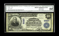 National Bank Notes:North Carolina, Raleigh, NC - $10 1902 Plain Back Fr. 626 The Commercial NB Ch. # 9067. Boldly printed signatures of A.P. Bauman and B....