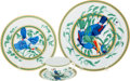 Luxury Accessories:Accessories, Hermes Tucan Porcelain Setting for 8: 8 Dinner Plates, 8 SaladPlates, 8 Cups, and 8 Saucers. ... (Total: 32 Items)
