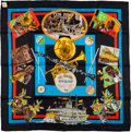 "Luxury Accessories:Accessories, Hermes Special Reissue Black And Multicolor ""New Orleans CreoleJazz,"" By Loic Dubigeon Silk Scarf. ..."