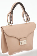 Luxury Accessories:Bags, Valentino Beige Leather Shoulder Bag. ...