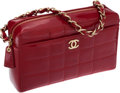 Luxury Accessories:Bags, Chanel Red Patent Leather Camera Bag. ...