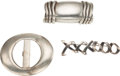 Luxury Accessories:Accessories, Set of Three; Tiffany & Co. Brooch and Silver Buckle;Kieselstein Cord Silver Buckle. ...