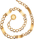 Luxury Accessories:Accessories, Chanel Gold Chain Belt. ...