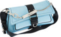 Luxury Accessories:Bags, Christian Dior Light Blue Leather & Crystal Hardcore DiorShoulder Bag. ...
