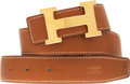 Luxury Accessories:Accessories, Hermes Gold Epsom Leather Belt with Gold H Buckle. ...