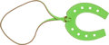 Luxury Accessories:Accessories, Hermes Vert Cru Leather Large Horseshoe Charm. ...