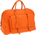 Luxury Accessories:Travel/Trunks, Hermes 45cm Orange H Togo Leather Steven Overnight Weekender Bagwith Palladium Hardware. ...