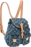Luxury Accessories:Bags, Louis Vuitton Neo Monogram Denim Backpack. ...
