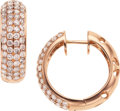 Estate Jewelry:Earrings, Colored Diamond, Pink Gold Earrings. ...