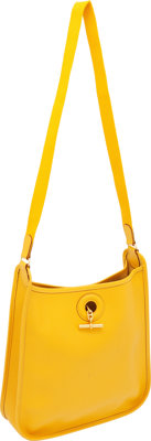 Hermes Yellow Epsom Leather Vespa Bag PM