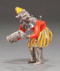 Silver Smalls:Other , A TIFFANY & CO. SILVER AND ENAMEL CIRCUS CLOWN WITH ACCORDIONDESIGNED BY GENE MOORE . Tiffany & Co., New York, New York,ci...