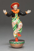 Silver Smalls:Other , A TIFFANY & CO. SILVER AND ENAMEL CIRCUS CLOWN DESIGNED BY GENEMOORE . Tiffany & Co., New York, New York, circa 1990. Gene ...