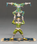 Silver & Vertu:Smalls & Jewelry, A TIFFANY & CO. SILVER AND ENAMEL CIRCUS ACROBAT GROUP DESIGNED BY GENE MOORE . Tiffany & Co., New York, New York, circa 199... (Total: 2 Items)