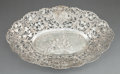 Silver Holloware, Continental:Holloware, A GERMAN SILVER RETICULATED BOWL . Maker unknown, Germany, circa1875. Marks: (crescent, crown) 800 , (weevil). 2-1/2 x ...