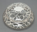 Silver Smalls:Other , A GLASS AND SILVER BOX . Maker unknown, circa 1900. Unmarked. 3-5/8x 6-1/2 inches diameter (9.2 x 16.5 cm). ... (Total: 2 Items)