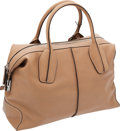 Luxury Accessories:Bags, Tod's Tan Leather D-Styling Bauletto Medium Shoulder Bag. ...