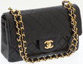 Luxury Accessories:Bags, Chanel Black Lambskin Leather Small Classic Double Flap Bag withGold Hardware. ...