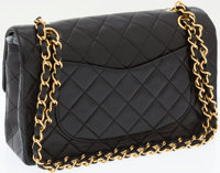 ac6a2c177eb2 ... Luxury Accessories:Bags, Chanel Black Lambskin Leather Small Classic  Double Flap Bag withGold Hardware ...