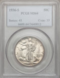 Walking Liberty Half Dollars: , 1936-S 50C MS64 PCGS. PCGS Population (717/894). NGC Census:(432/611). Mintage: 3,884,000. Numismedia Wsl. Price for probl...