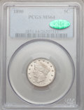 Liberty Nickels: , 1890 5C MS64 PCGS. CAC. PCGS Population (155/60). NGC Census:(118/59). Mintage: 16,259,272. Numismedia Wsl. Price for prob...