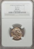 Buffalo Nickels: , 1938-D/S 5C MS66 NGC. FS-512. NGC Census: (842/68). PCGS Population(1495/179). Mintage: 7,020,000. Numismedia Wsl. Price ...