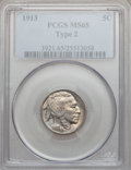 Buffalo Nickels: , 1913 5C Type Two MS65 PCGS. PCGS Population (527/193). NGC Census:(315/76). Mintage: 29,858,700. Numismedia Wsl. Price for...