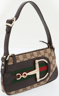 Luxury Accessories:Bags, Gucci Monogram Canvas Horsebit Pochette Bag. ...