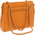 Luxury Accessories:Bags, Chanel Orange Caviar Leather Bag with Gold Hardware. ...