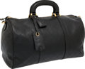 Luxury Accessories:Bags, Chanel Black Diamond Quilted Lambskin Leather Weekender Bag. ...