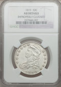 Bust Half Dollars: , 1819 50C -- Improperly Cleaned -- NGC Details. AU. NGC Census:(26/214). PCGS Population (56/187). Mintage: 2,208,000. Numi...