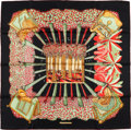 "Luxury Accessories:Accessories, Hermes Black, Red, And Green ""Ombres Et Lumieres,"" By Annie FaivreSilk Scarf. ..."