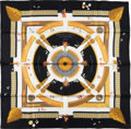 "Luxury Accessories:Accessories, Hermes Special Issue to Benefit Central Park Conservancy Black andGold ""Central Park,"" by Laurence Bourthoumieux Silk Scarf..."
