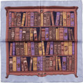 "Luxury Accessories:Accessories, Hermes Lilac and Mauve ""Bibliotheque,"" by Hugo Grygkar SilkPochette Scarf. ..."