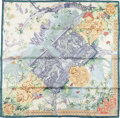 "Luxury Accessories:Accessories, Hermes Teal, Pink, and Gold ""Central Park,"" by LaurenceBourthoumieux Silk Scarf. ..."