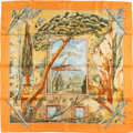 "Luxury Accessories:Accessories, Hermes Special Issue Orange, Green, and Blue ""Promenade Au Pays DeCezanne,"" by Laurence Bourthoumieux Silk Scarf. ..."