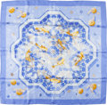 "Luxury Accessories:Accessories, Hermes Light Blue, White, and Gold ""Sous Les Orangers,"" by DimitriRybaltchenko Silk Scarf . ..."