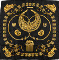 "Luxury Accessories:Accessories, Hermes Black and Gold ""Cavaliers D'or,"" by Vladimir RybaltchenkoSilk Scarf . ..."