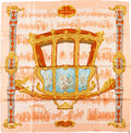 """Luxury Accessories:Accessories, Hermes Red and Gold """"Berline D'or,"""" by Christiane Vauzelles SilkScarf . ..."""