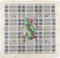 "Luxury Accessories:Accessories, Hermes White and Green ""Cornemuse (Bagpipe),"" by Hugo Grygkar SilkScarf . ..."