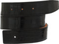 Luxury Accessories:Accessories, Hermes 70cm Shiny Black Alligator Belt Strap. ...