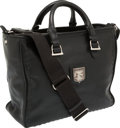 Luxury Accessories:Bags, Kieselstein Cord Black Leather Tote Bag with Silver Moon & StarDetail. ...