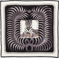 "Luxury Accessories:Accessories, Hermes Black and White ""Tigre Royal"" by Christiane VauzellesCashmere Scarf. ..."