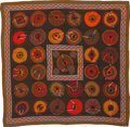 """Luxury Accessories:Accessories, Hermes Olive and Red """"Belles du Mexique"""" by Virginie Jamin Cashmere Scarf. ..."""