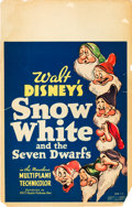 "Movie Posters:Animation, Snow White and the Seven Dwarfs (RKO, 1937). Window Card (14"" X22"").. ..."